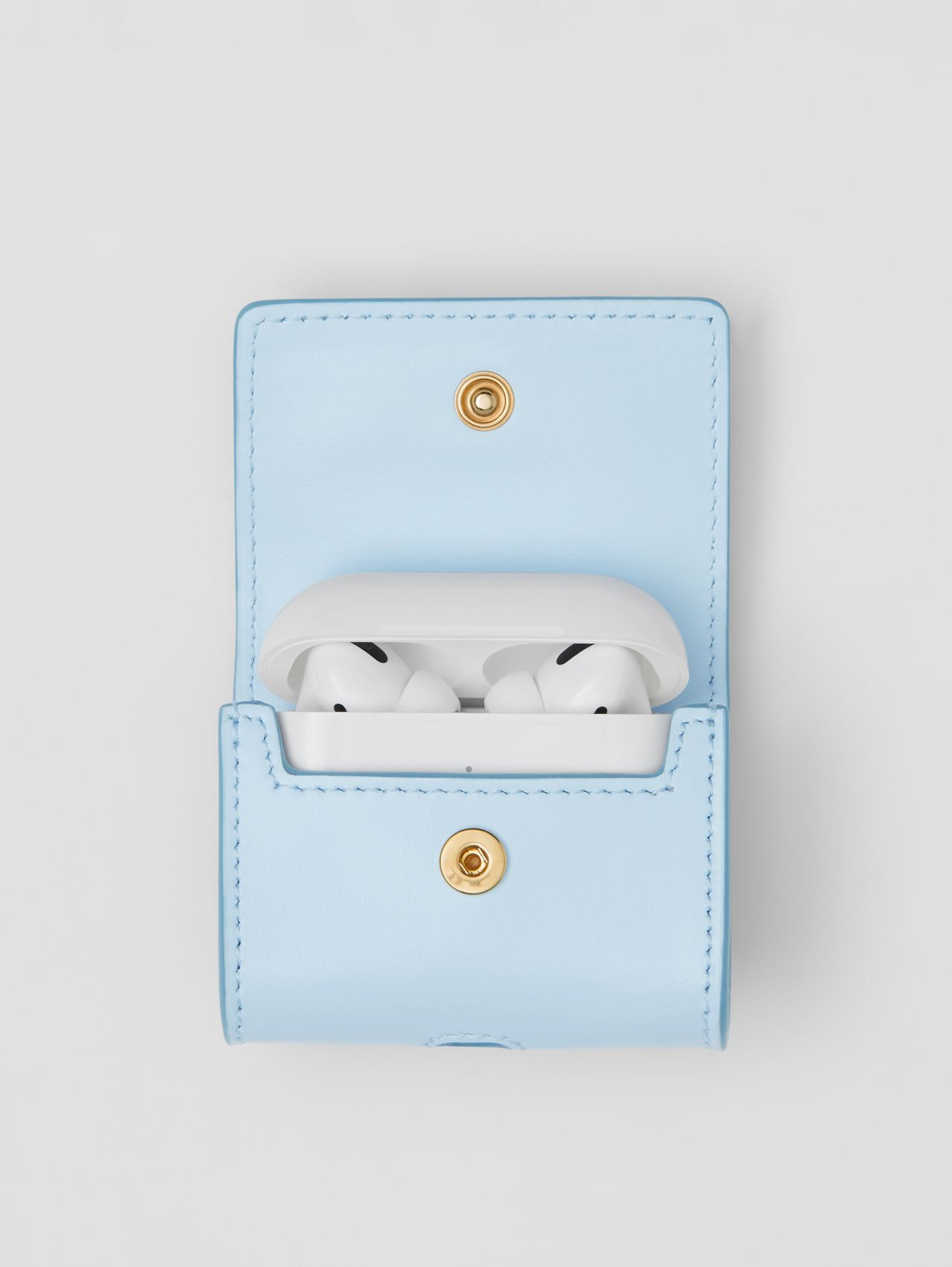 Leather AirPods Pro Case in Pale Blue