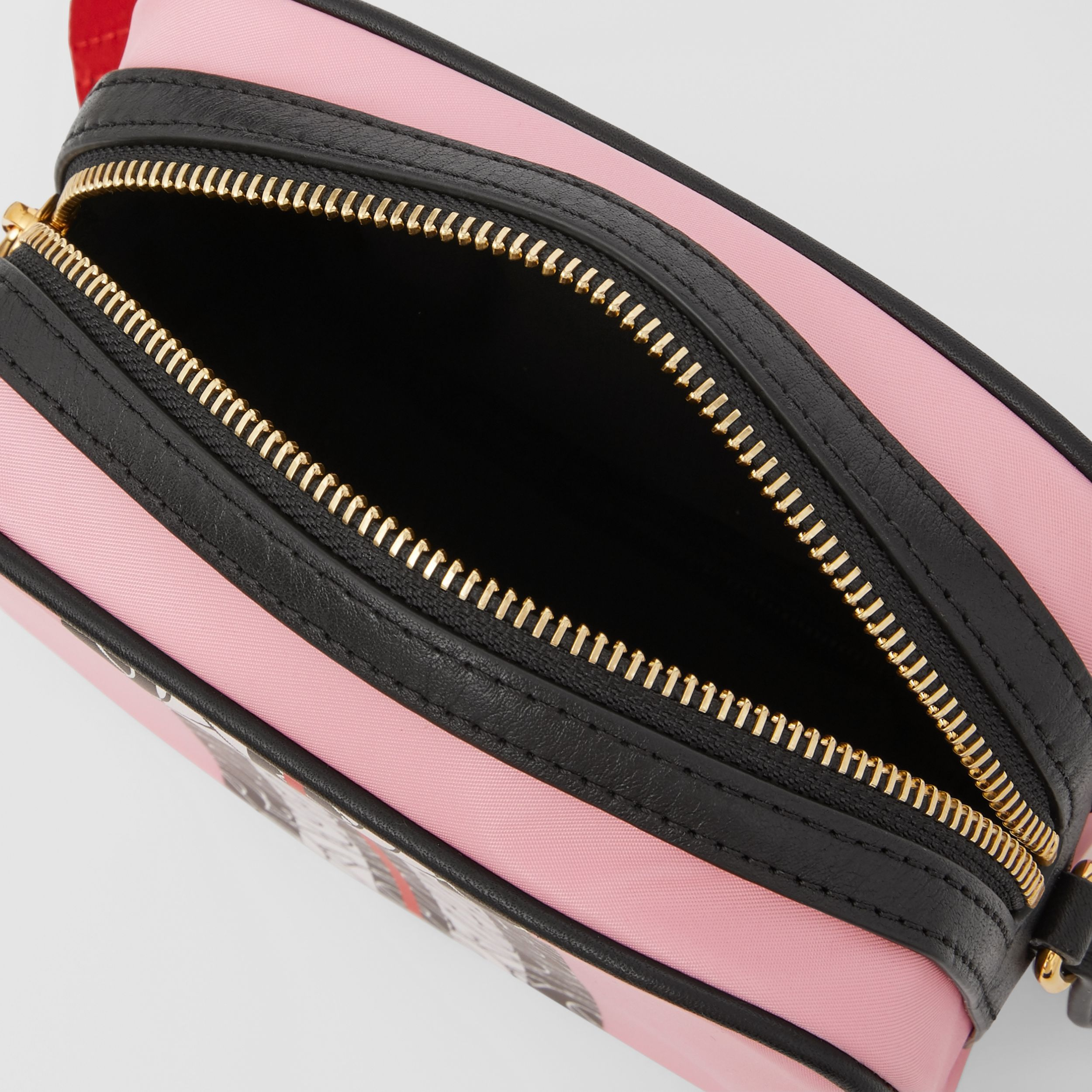 Monogram Stripe Print ECONYL® Camera Bag in Candy Pink - Children | Burberry - 4