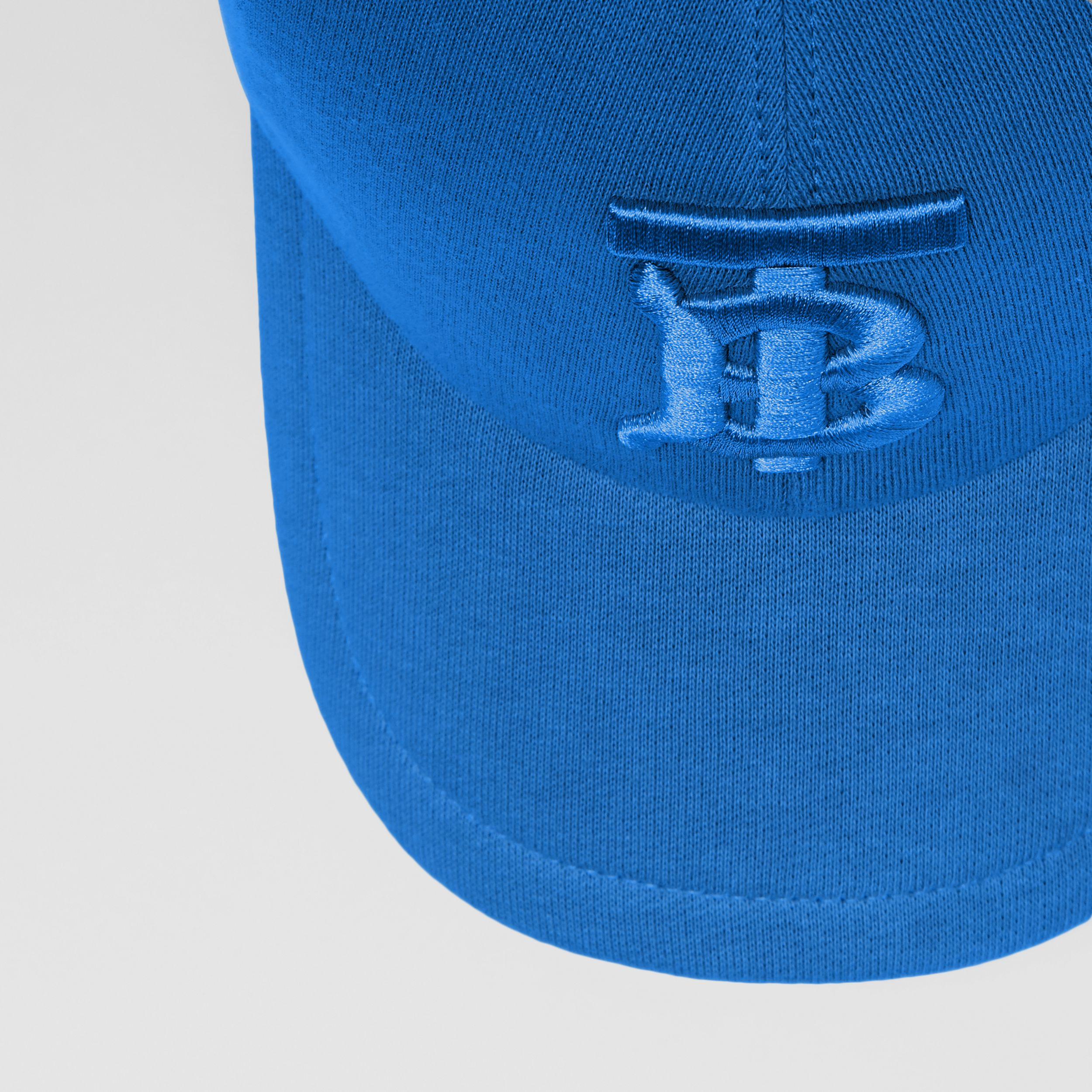 Monogram Motif Jersey Baseball Cap in Vibrant Blue | Burberry - 2