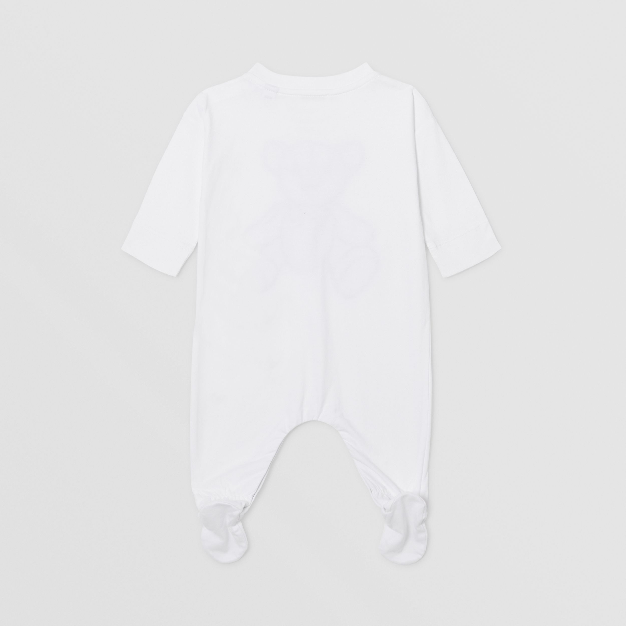 Thomas Bear Appliqué Organic Cotton All-in-one in White - Children | Burberry - 4
