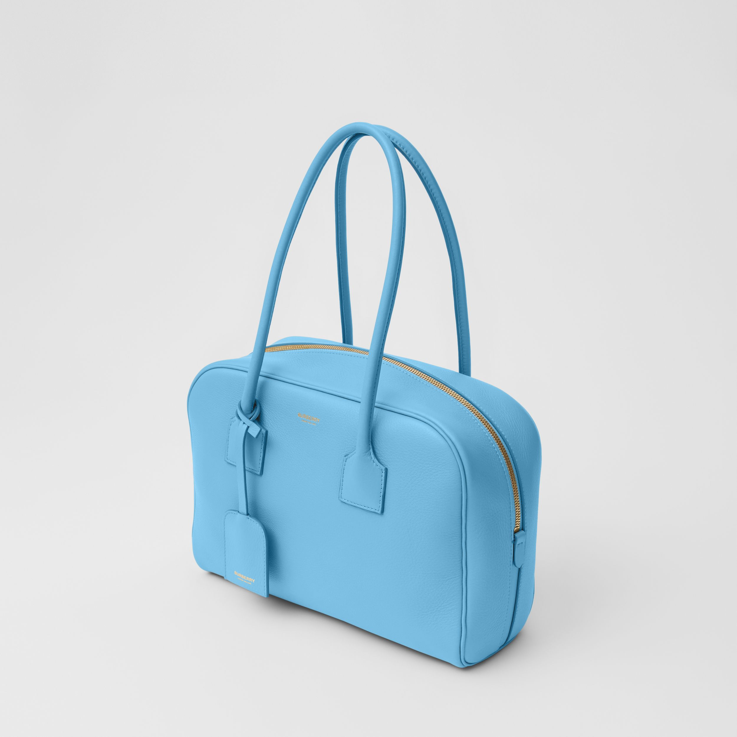 Medium Leather Half Cube Bag in Blue Topaz - Women | Burberry - 4