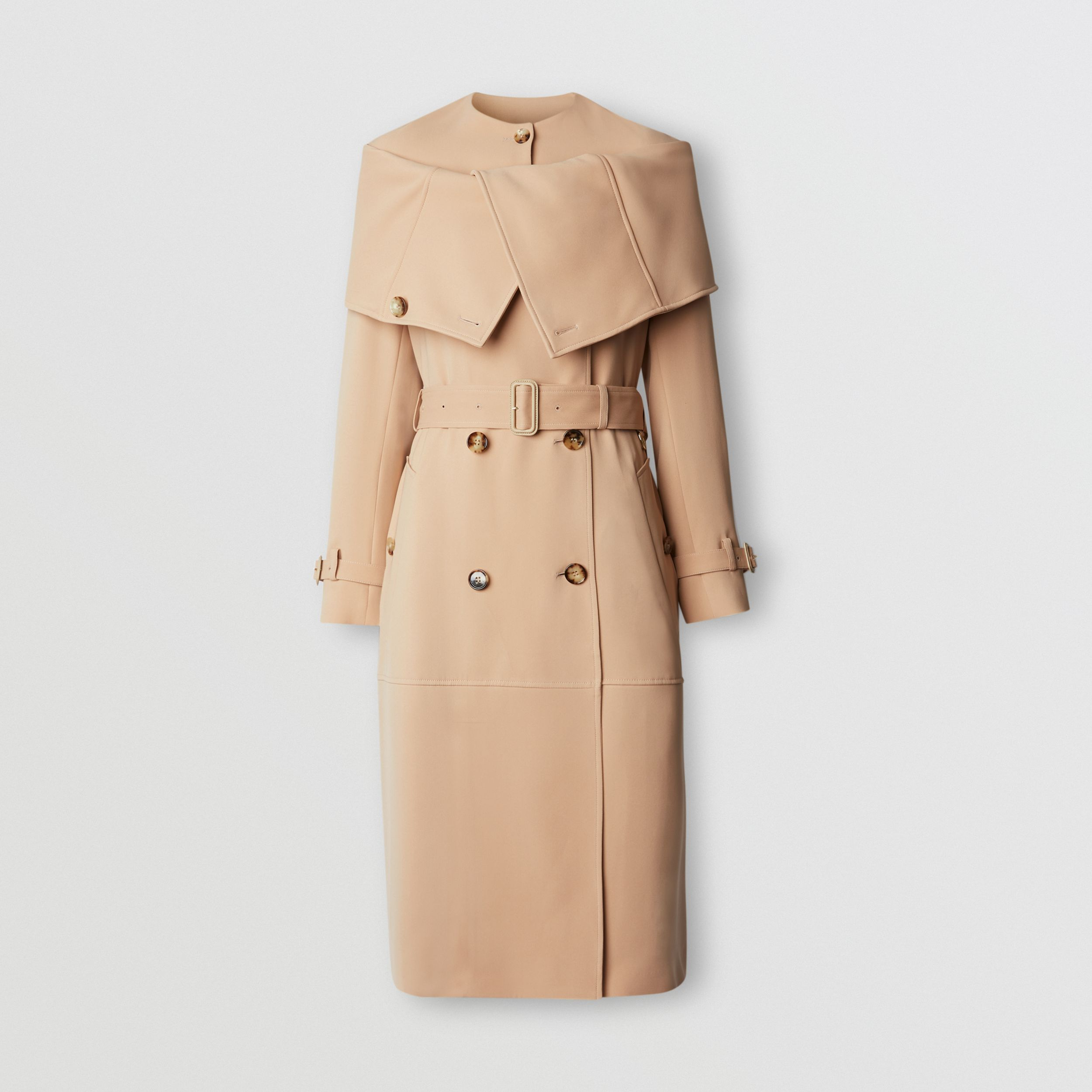 Silk Cady Reconstructed Trench Coat in Dark Biscuit - Women | Burberry - 4