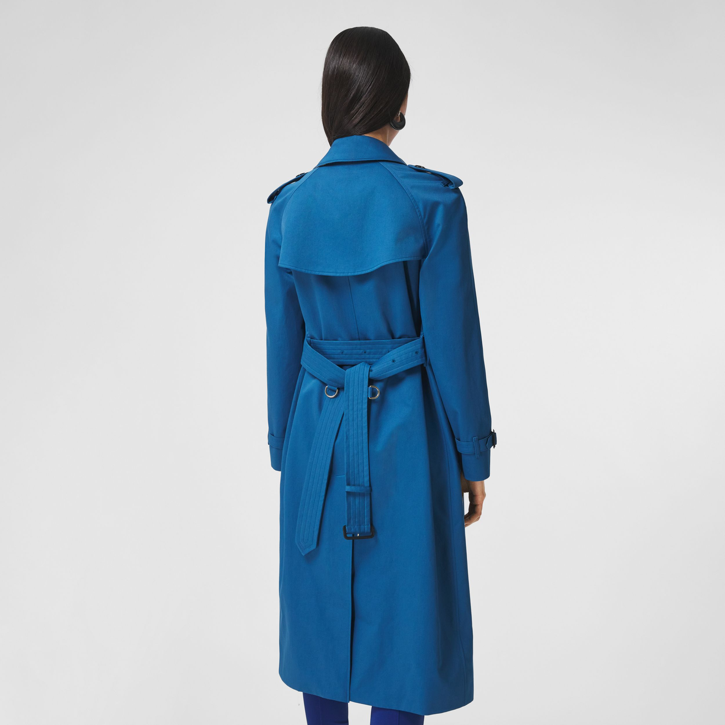 Trench coat in gabardine di cotone (Blu Ceruleo Scuro) - Donna | Burberry - 3