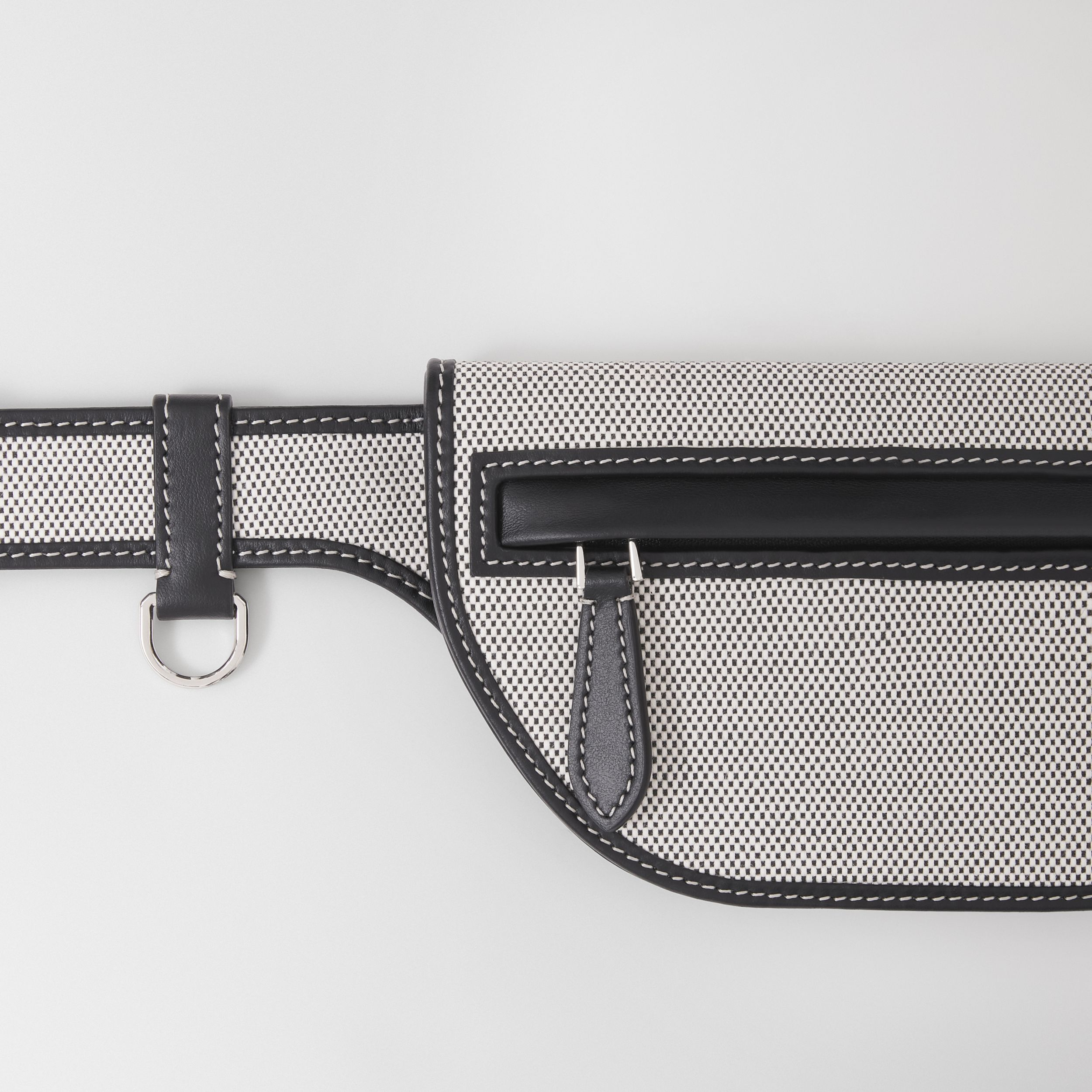 Horseferry Print Canvas and Leather Olympia Belt Bag in Black/white - Women | Burberry United Kingdom - 2