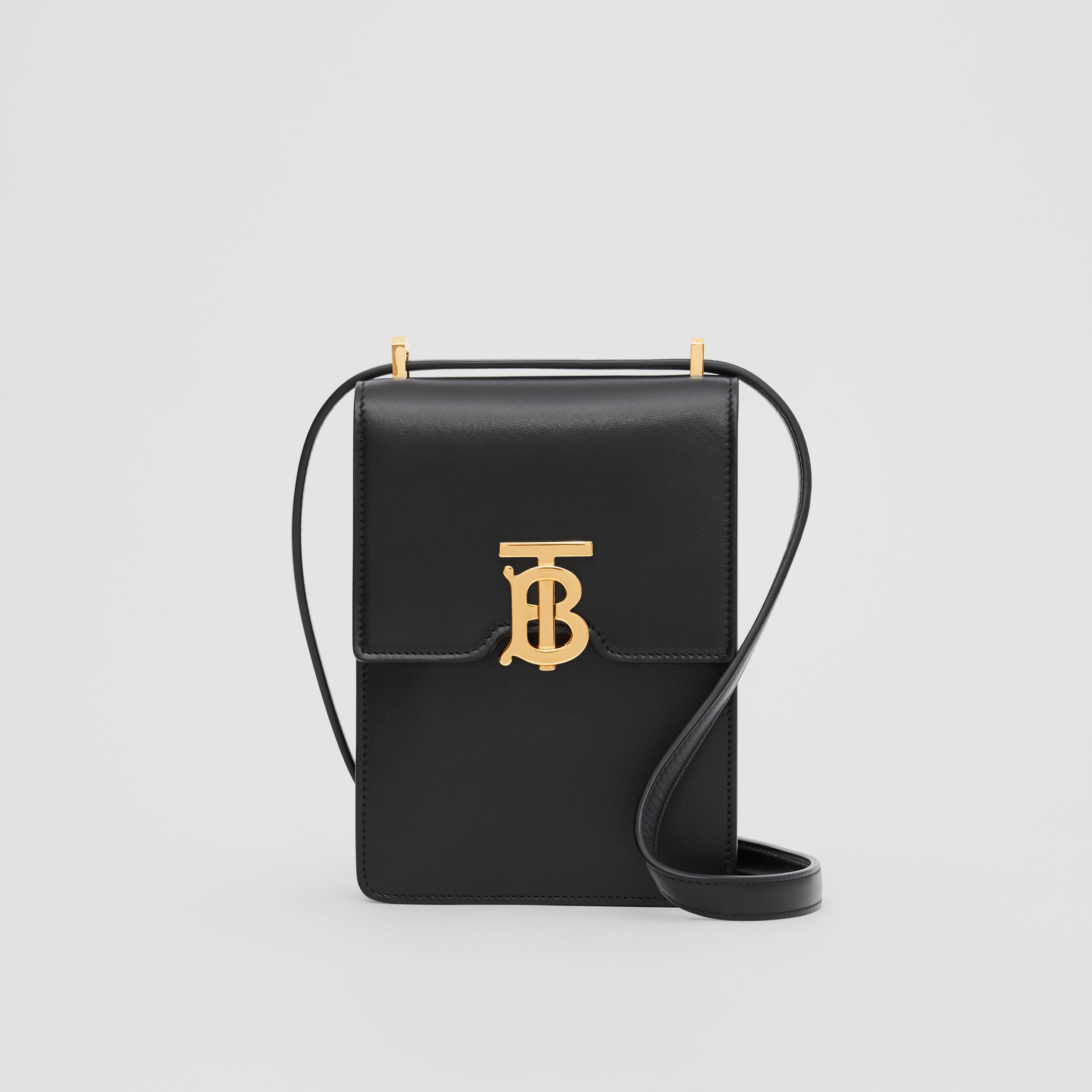 Leather Robin Bag in Black | Burberry - 1
