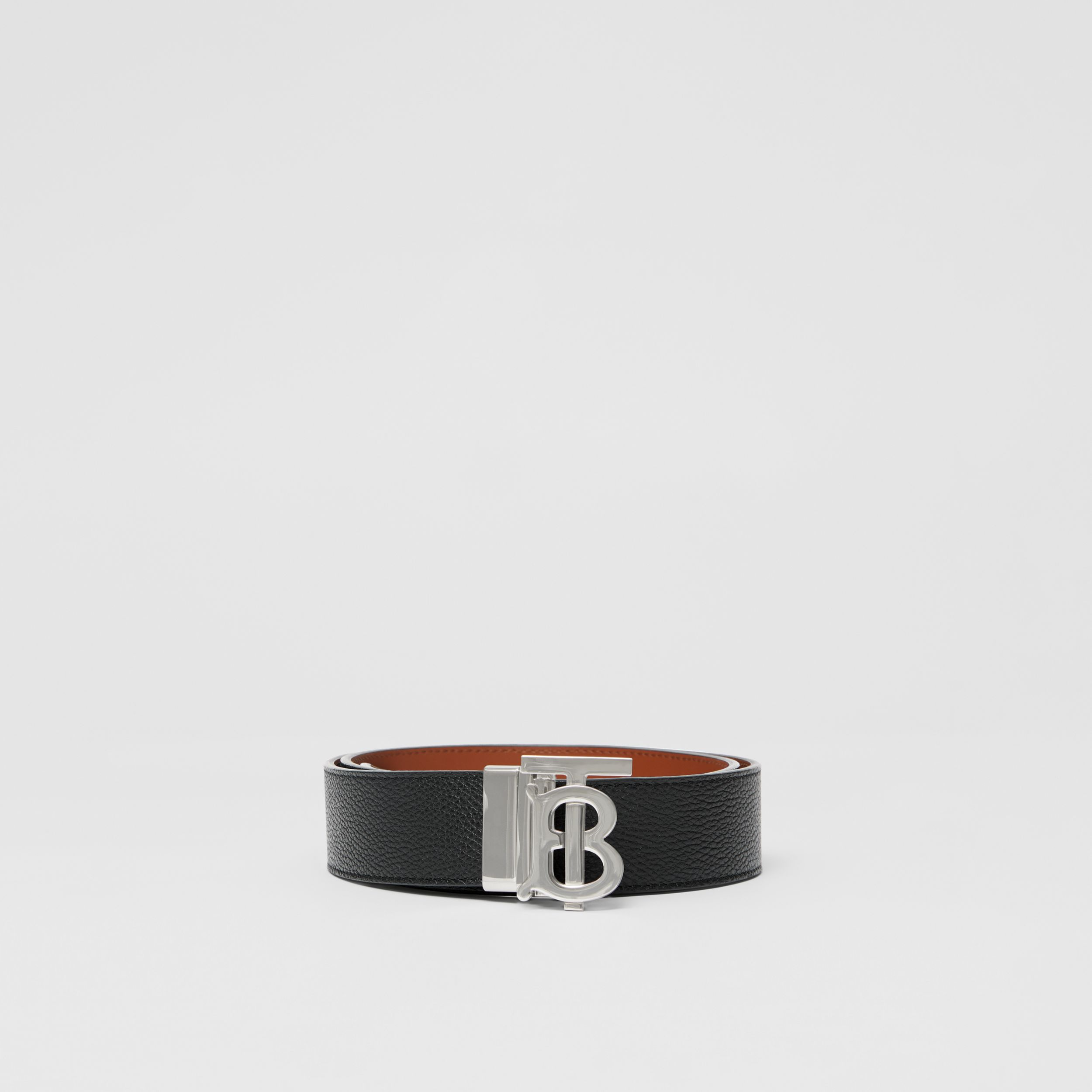 Reversible Monogram Motif Leather Belt in Black/tan - Men | Burberry - 4