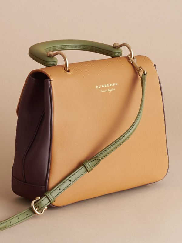 La borsa con manico DK88 media (Cioccolato Scuro/giallo Ocra) - Donna | Burberry - cell image 3