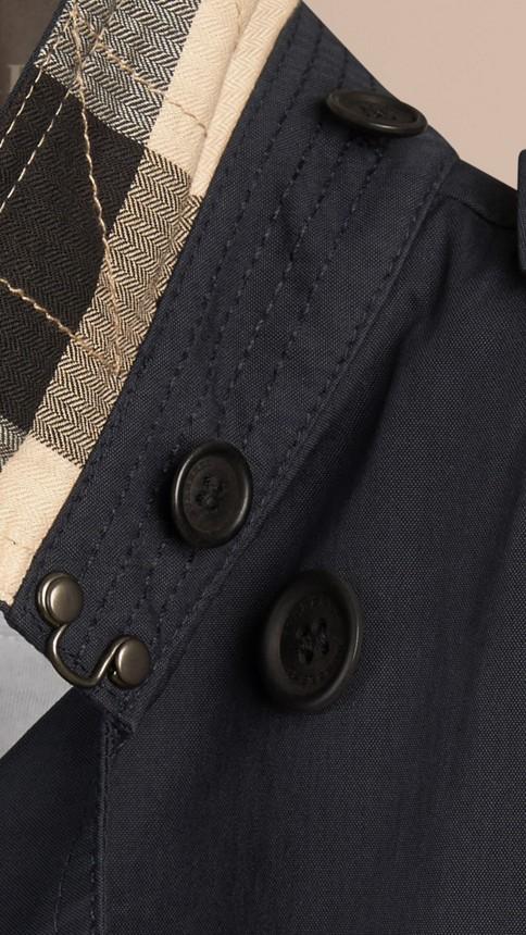 Marine Trench-coat à capuche en sergé de coton Marine - Image 2