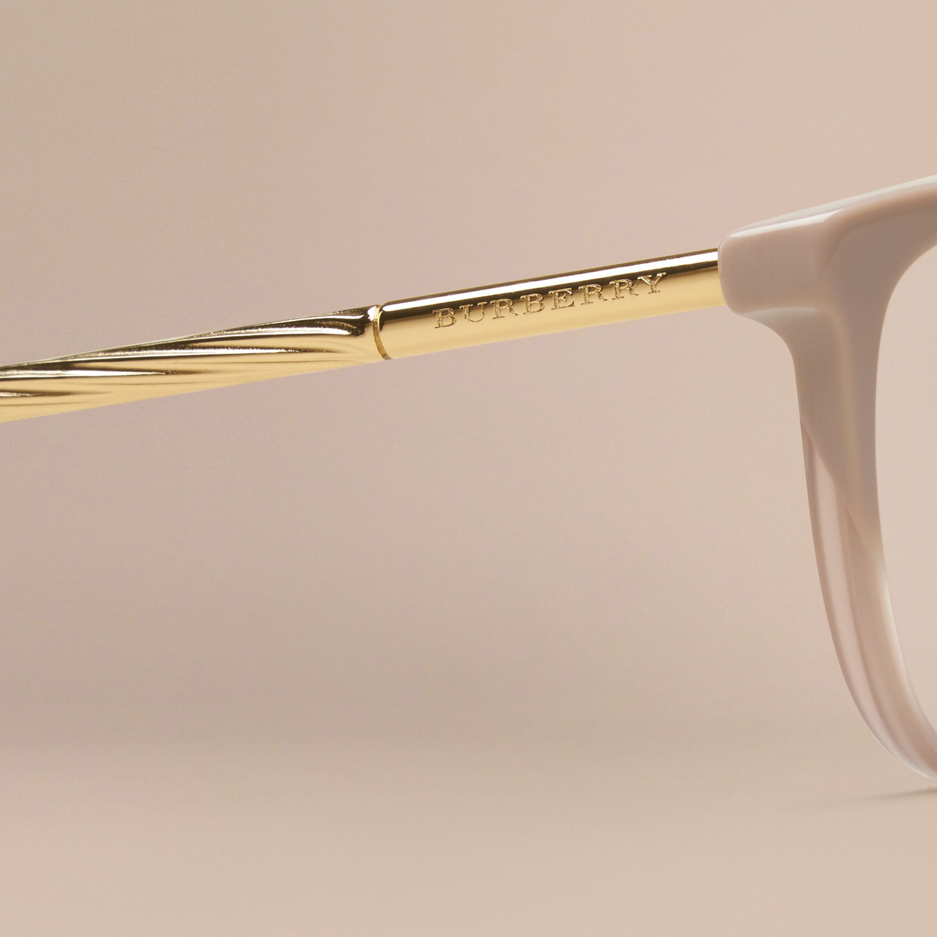 Gabardine Collection Cat-Eye Optical Frames in Honey - gallery image 2