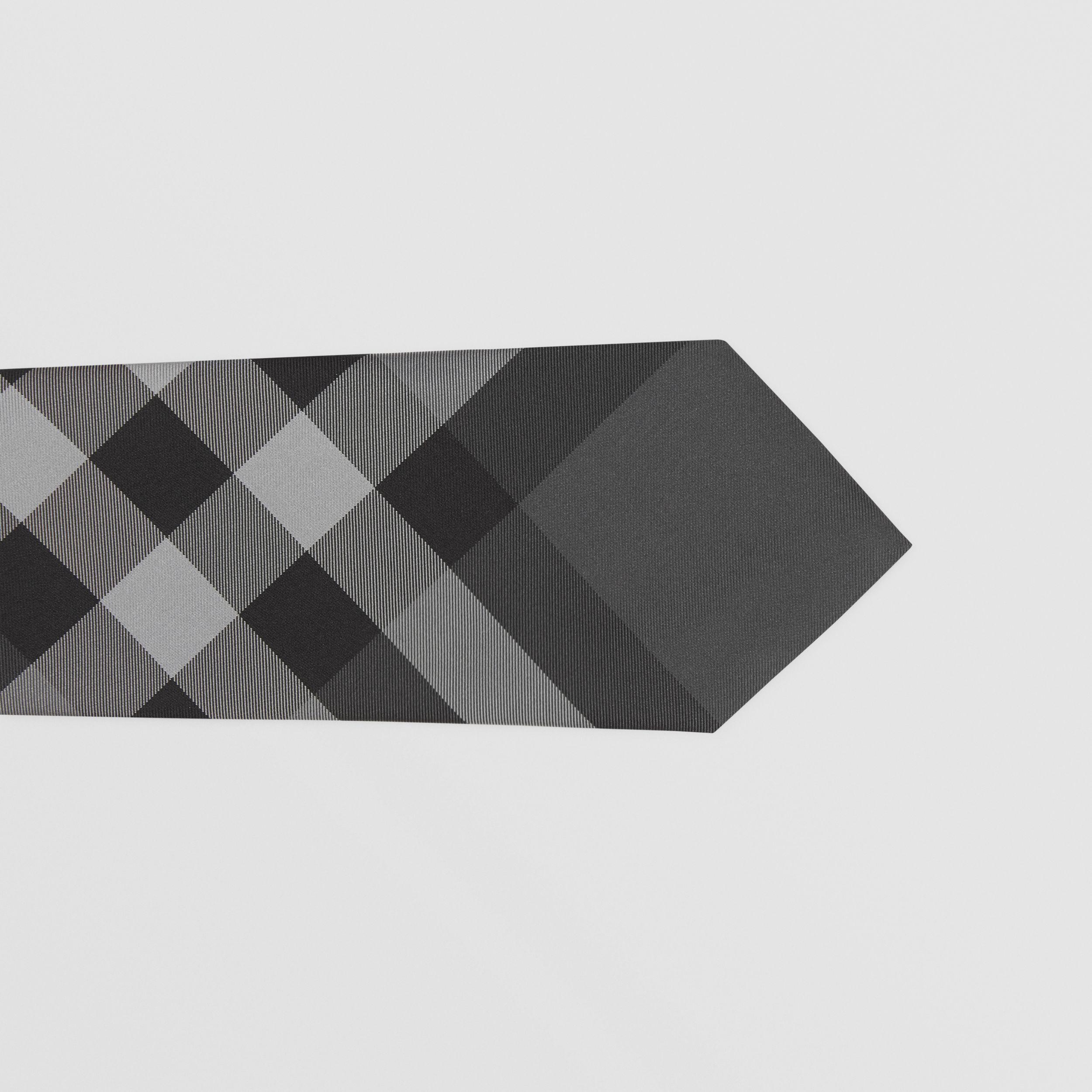 Classic Cut Check Silk Tie in Charcoal - Men | Burberry - 2
