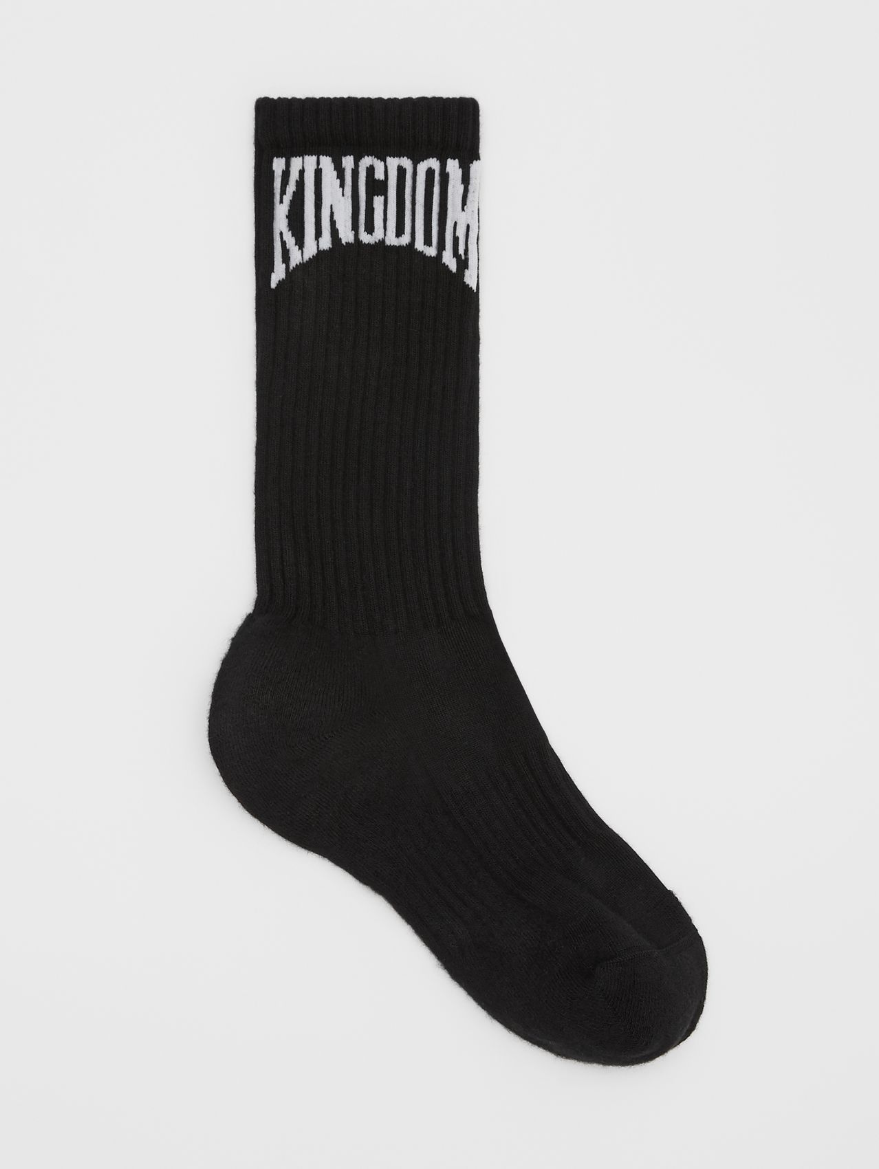 Kingdom Intarsia Cotton Blend Socks in Black