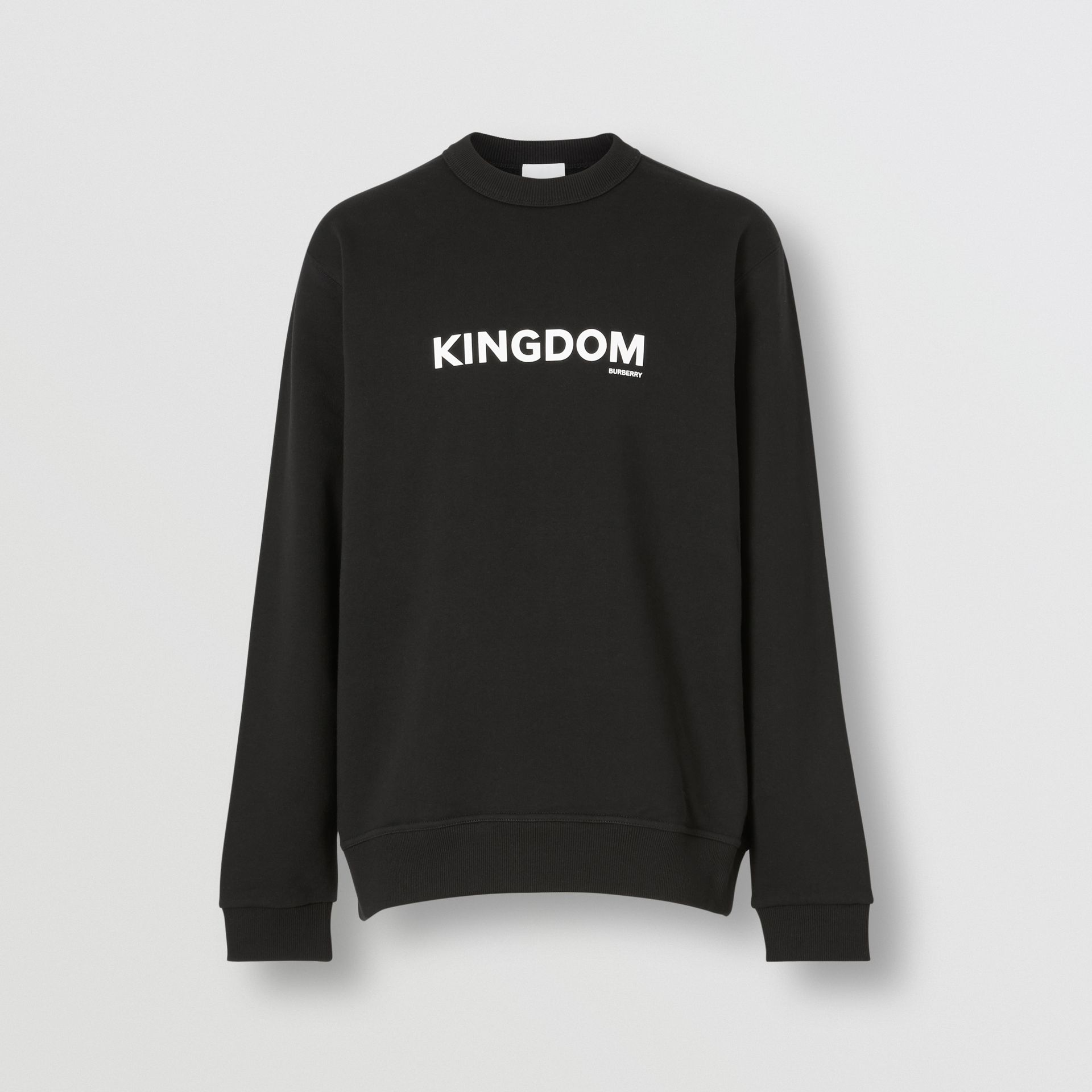 Kingdom Print Cotton Sweatshirt in Black - Men | Burberry - gallery image 3