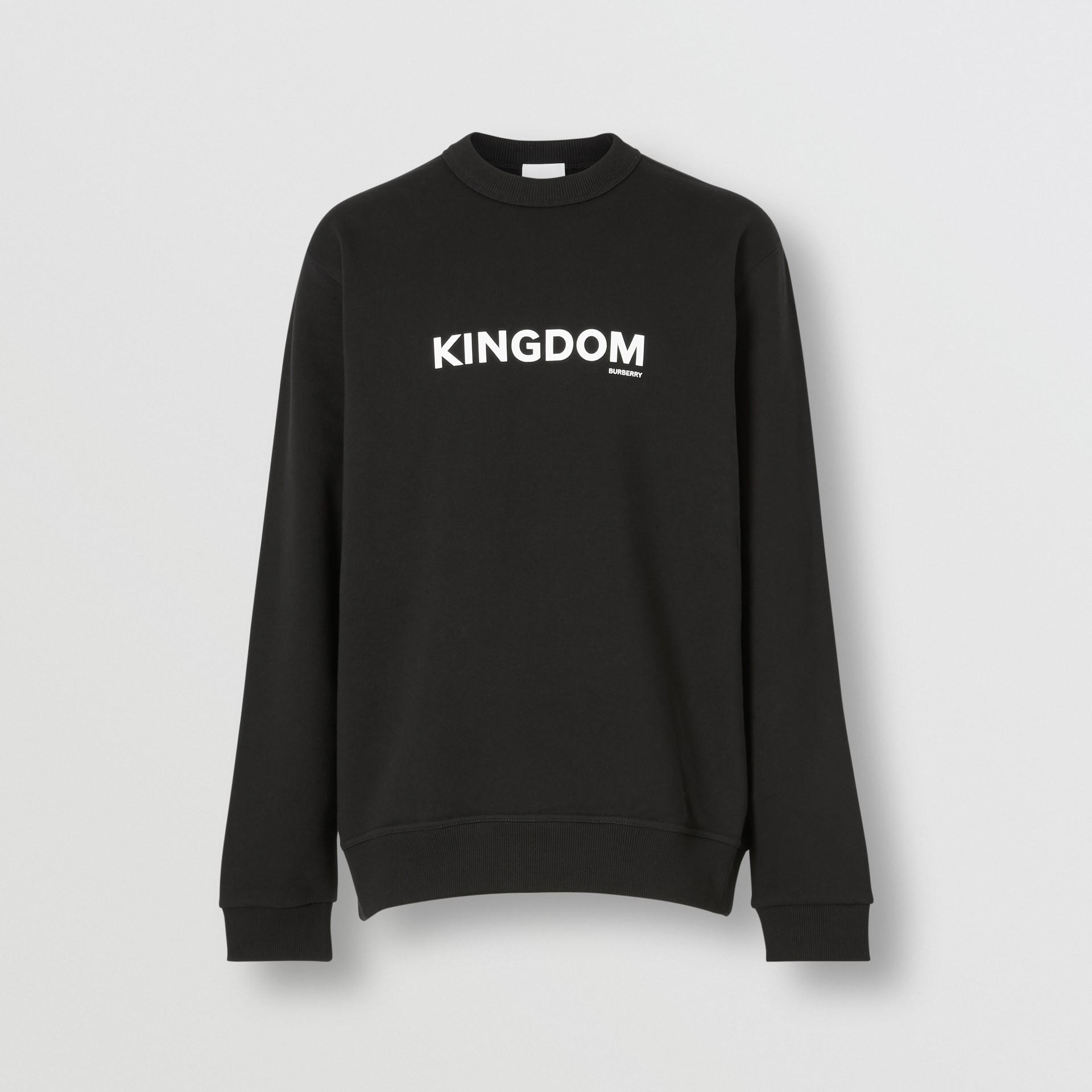Sweat-shirt en coton Kingdom (Noir) - Homme | Burberry Canada - photo de la galerie 3