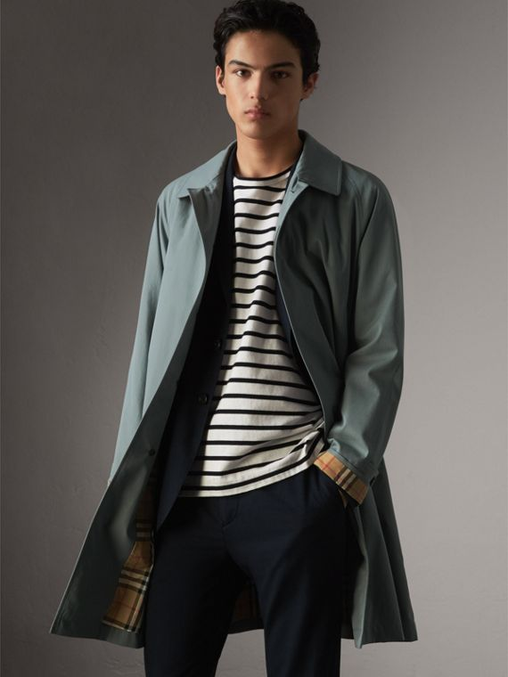 The Camden – Car Coat longo (Azul Terroso)