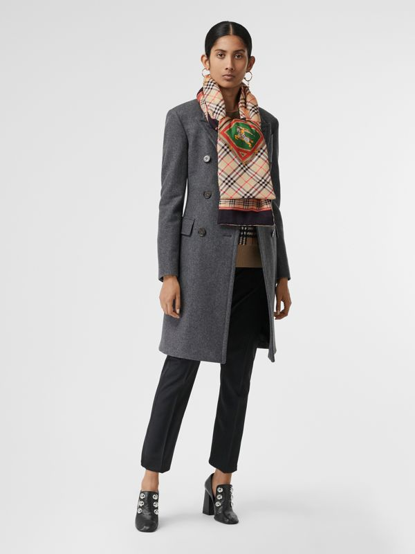 Archive Scarf Print Silk Puffer Scarf in Multicolour | Burberry Singapore - cell image 2