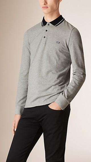 Contrast Tipping Cotton Piqué Polo Shirt