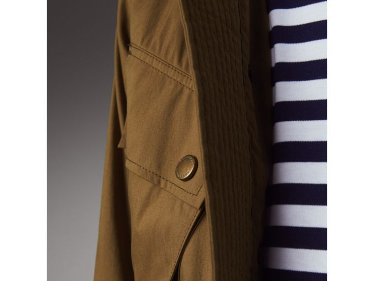 Technical Cotton Canvas Field Jacket in Military Khaki - Men | Burberry - cell image 1