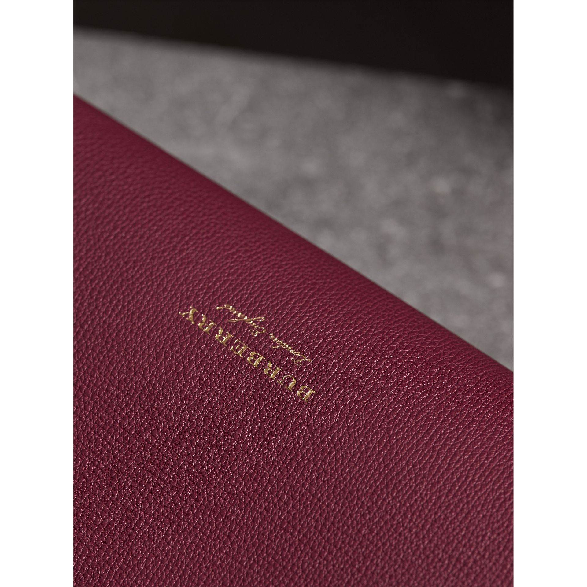 The Medium Banner in Leather and Snakeskin in Berry Pink - Women | Burberry - gallery image 6