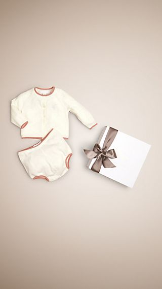 Cotton Cashmere Two-piece Baby Gift Set
