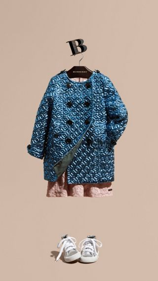 Diamond Matelassé Cocoon Coat