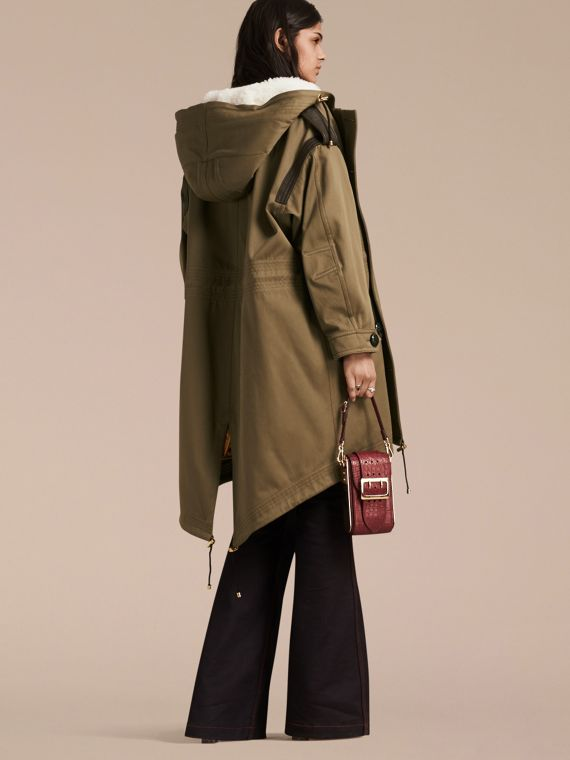Oliva Parka in tela di cotone con finiture in shearling - cell image 2