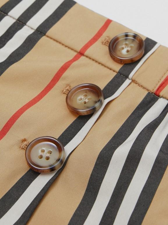 Icon Stripe Cotton Poplin Sailor Shorts in Archive Beige - Children | Burberry United Kingdom - cell image 1