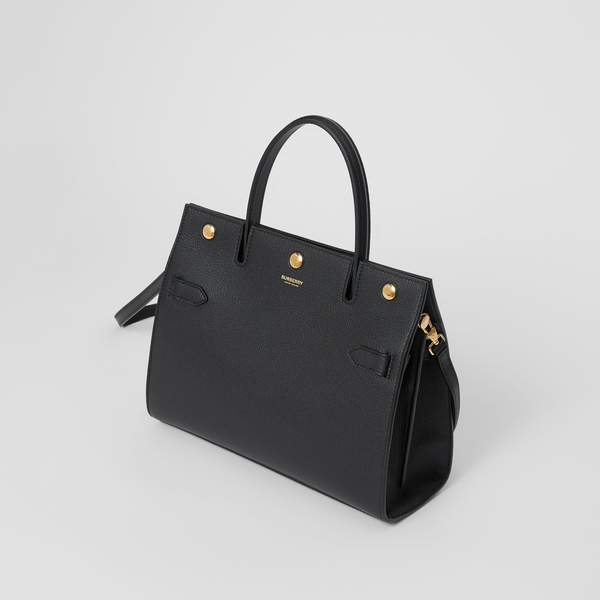Small Leather Title Bag in Black - Women | Burberry - gallery image 3