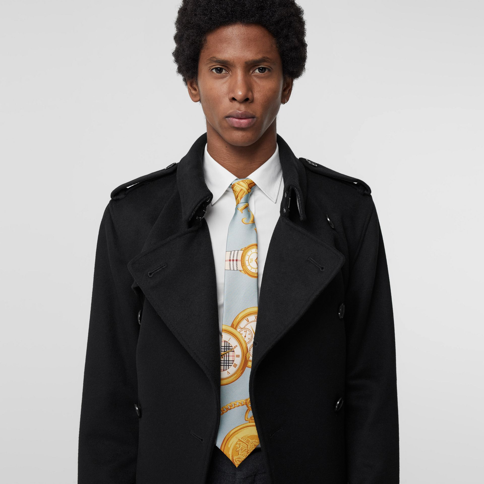 Modern Cut Archive Scarf Print Silk Tie in Blue - Men | Burberry United States - gallery image 2
