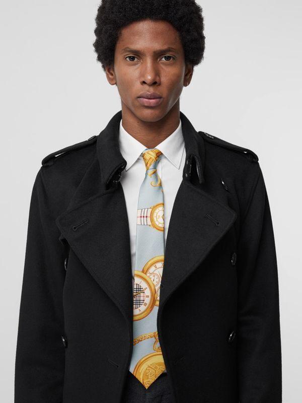 Modern Cut Archive Scarf Print Silk Tie in Blue - Men | Burberry United States - cell image 2