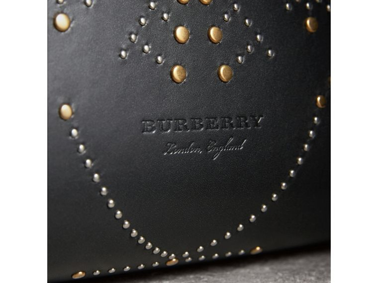 The Medium Banner in Riveted Leather in Black - Women | Burberry - cell image 1