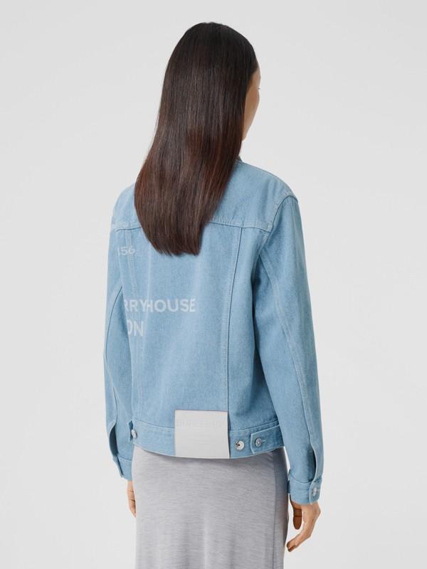 Horseferry Print Bleached Denim Jacket in Light Indigo - Women | Burberry Singapore - cell image 2