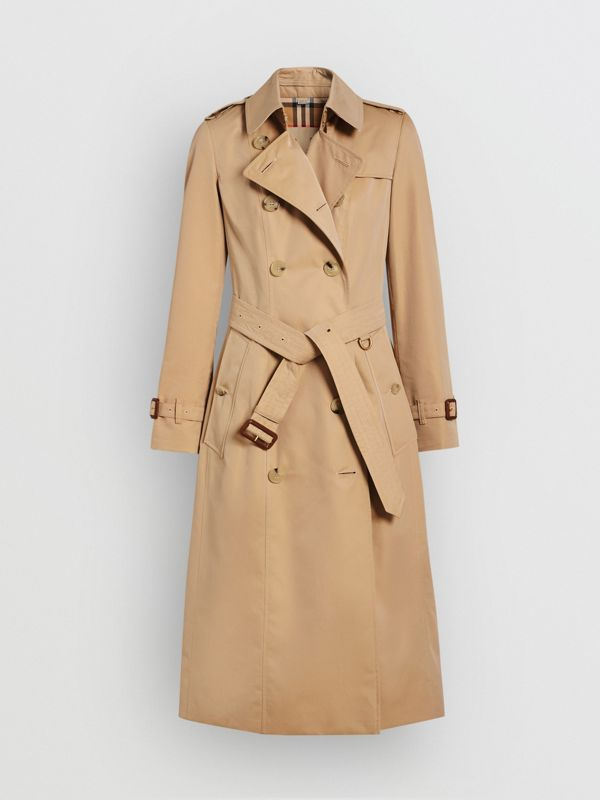 The Long Chelsea Heritage Trench Coat in Honey - Women | Burberry Canada - cell image 3
