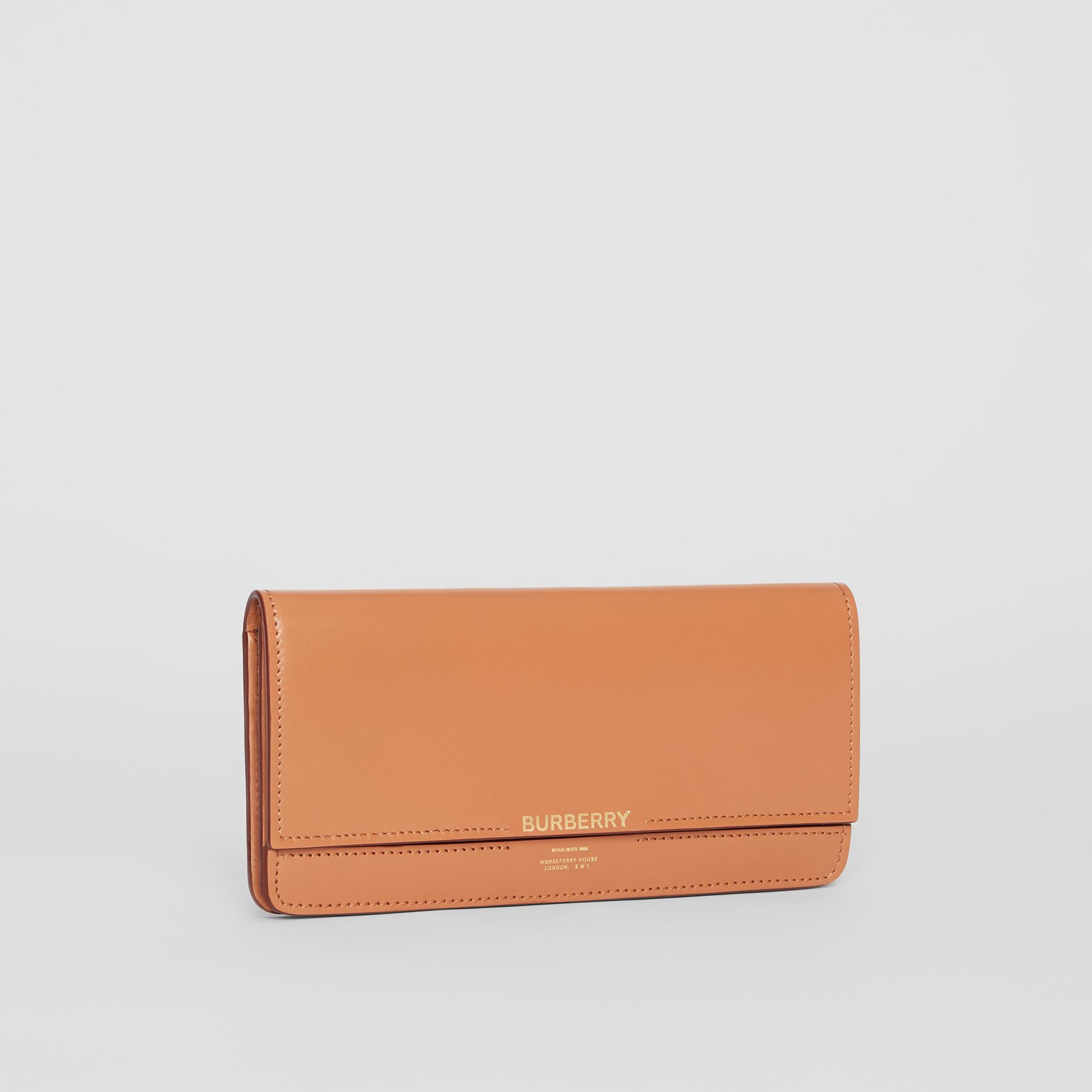 Horseferry Embossed Leather Continental Wallet in Nutmeg - Women | Burberry United Kingdom - gallery image 4