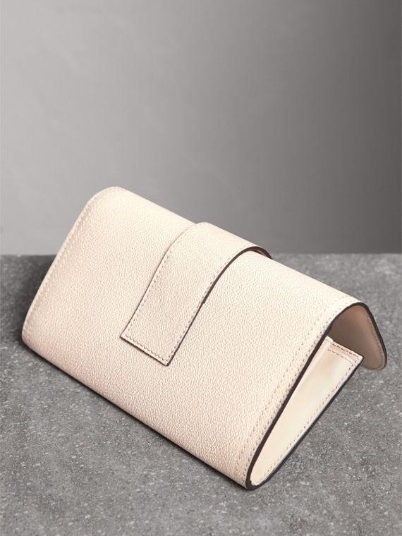 Textured Leather Continental Wallet in Limestone - Women | Burberry United States - cell image 2