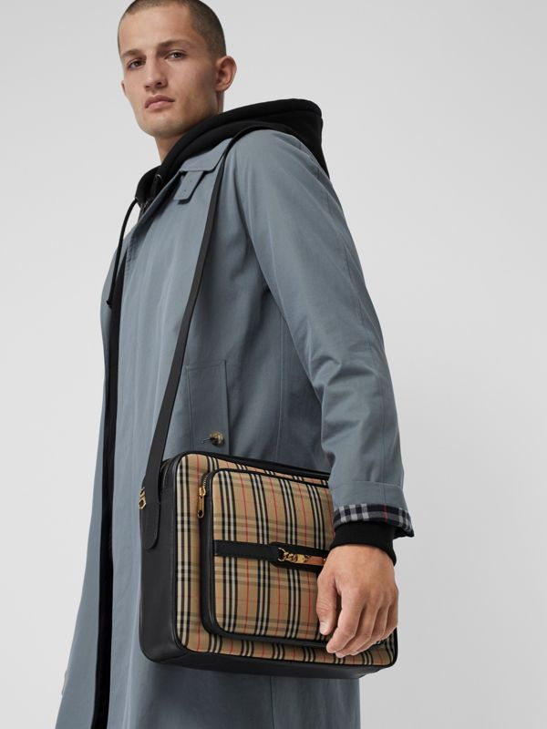 The Large 1983 Check Link Camera Bag in Black - Men | Burberry United Kingdom - cell image 3