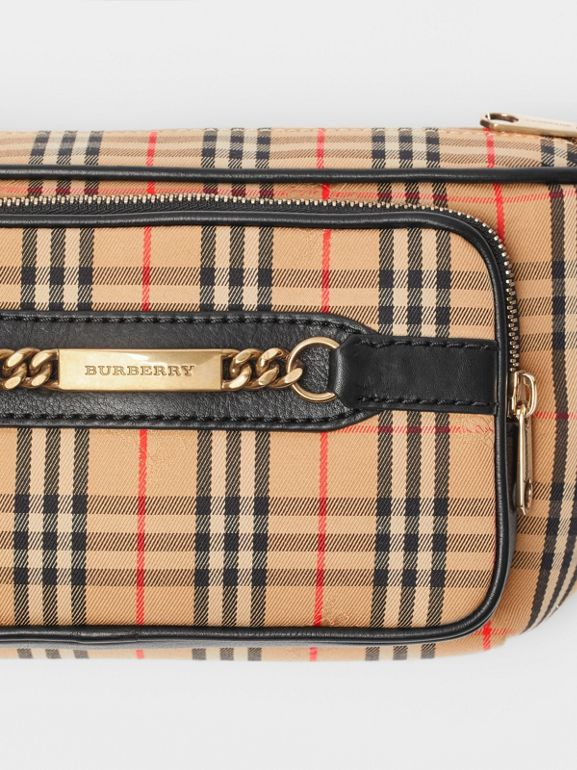 The Large 1983 Check Link Bum Bag in Black - Men | Burberry - cell image 1