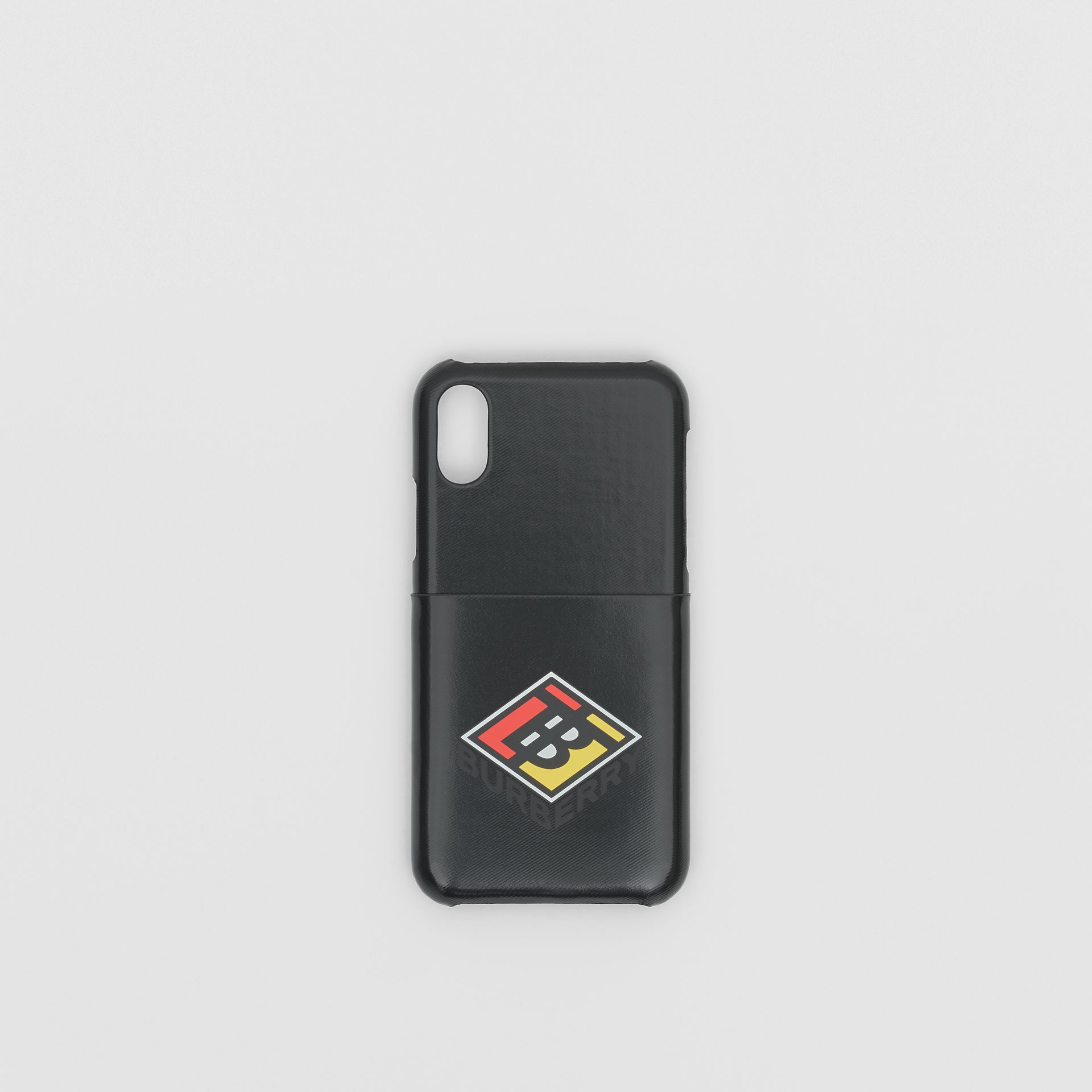 Logo Graphic Canvas iPhone X/XS Case in Black | Burberry - gallery image 0