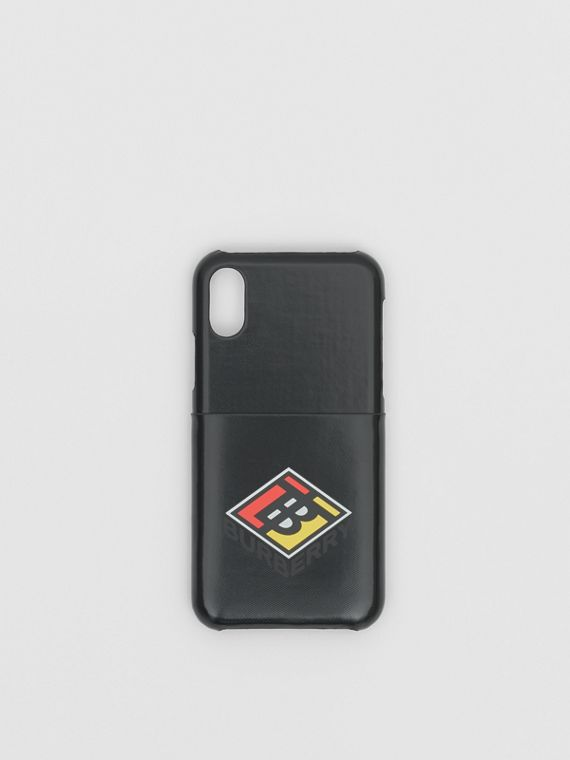 Logo Graphic Canvas iPhone X/XS Case in Black