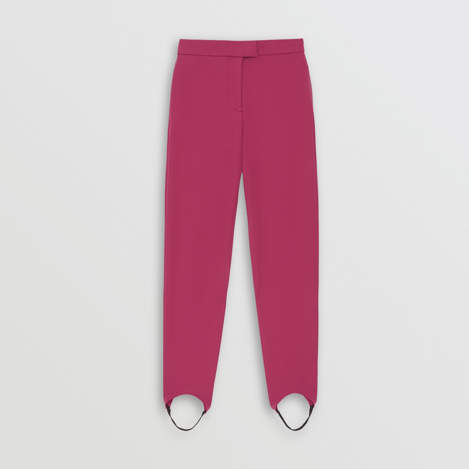 Long Cotton Blend Tailored Jodhpurs in Plum Pink - Women | Burberry - gallery image 3