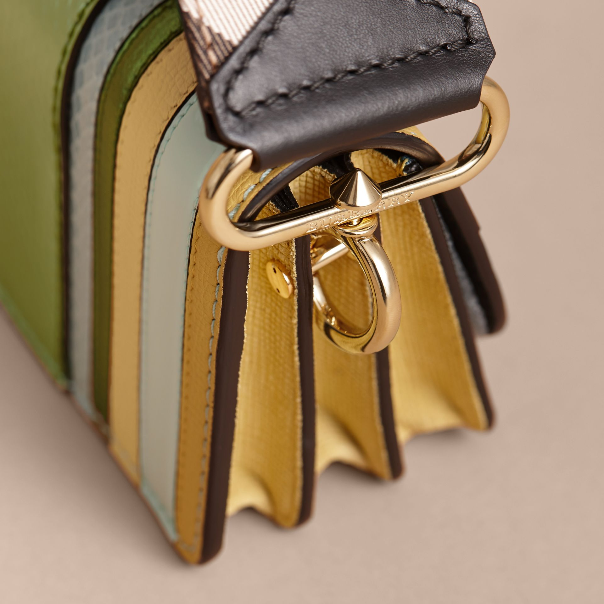 The Small Buckle Bag in Leather and Snakeskin Appliqué - gallery image 7