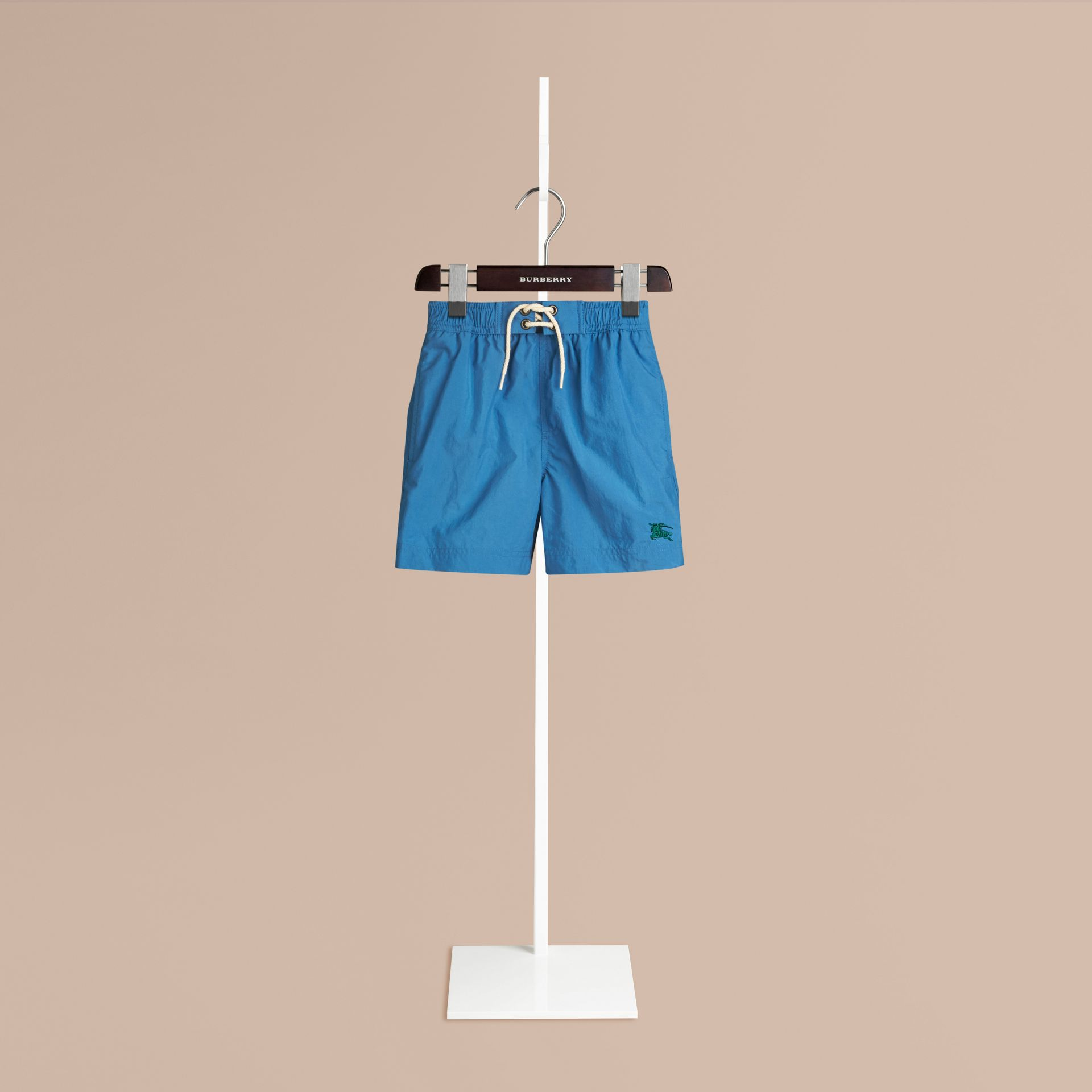 Lightweight Swim Shorts in Lupin Blue | Burberry Singapore - gallery image 0