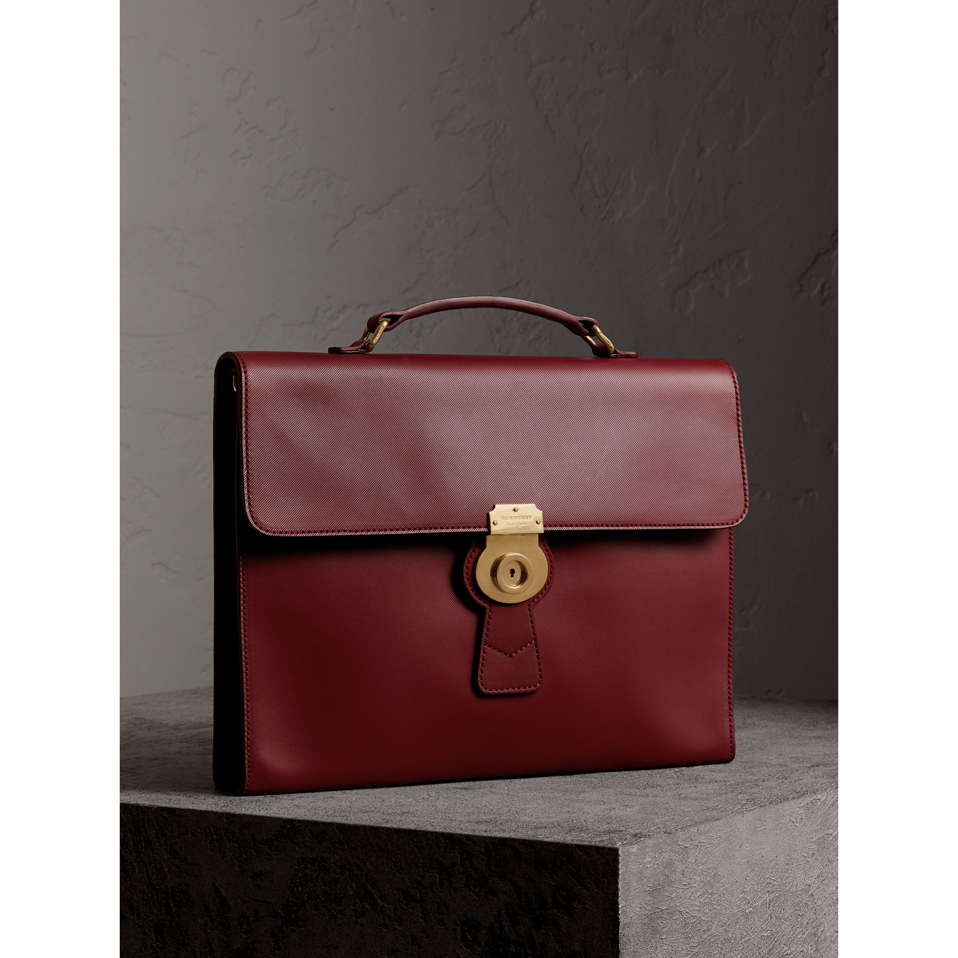 The Large DK88 Document Case in Antique Red - Men | Burberry - gallery image 7