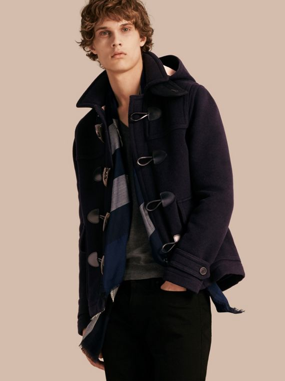 Wool Duffle Jacket with Detachable Hood