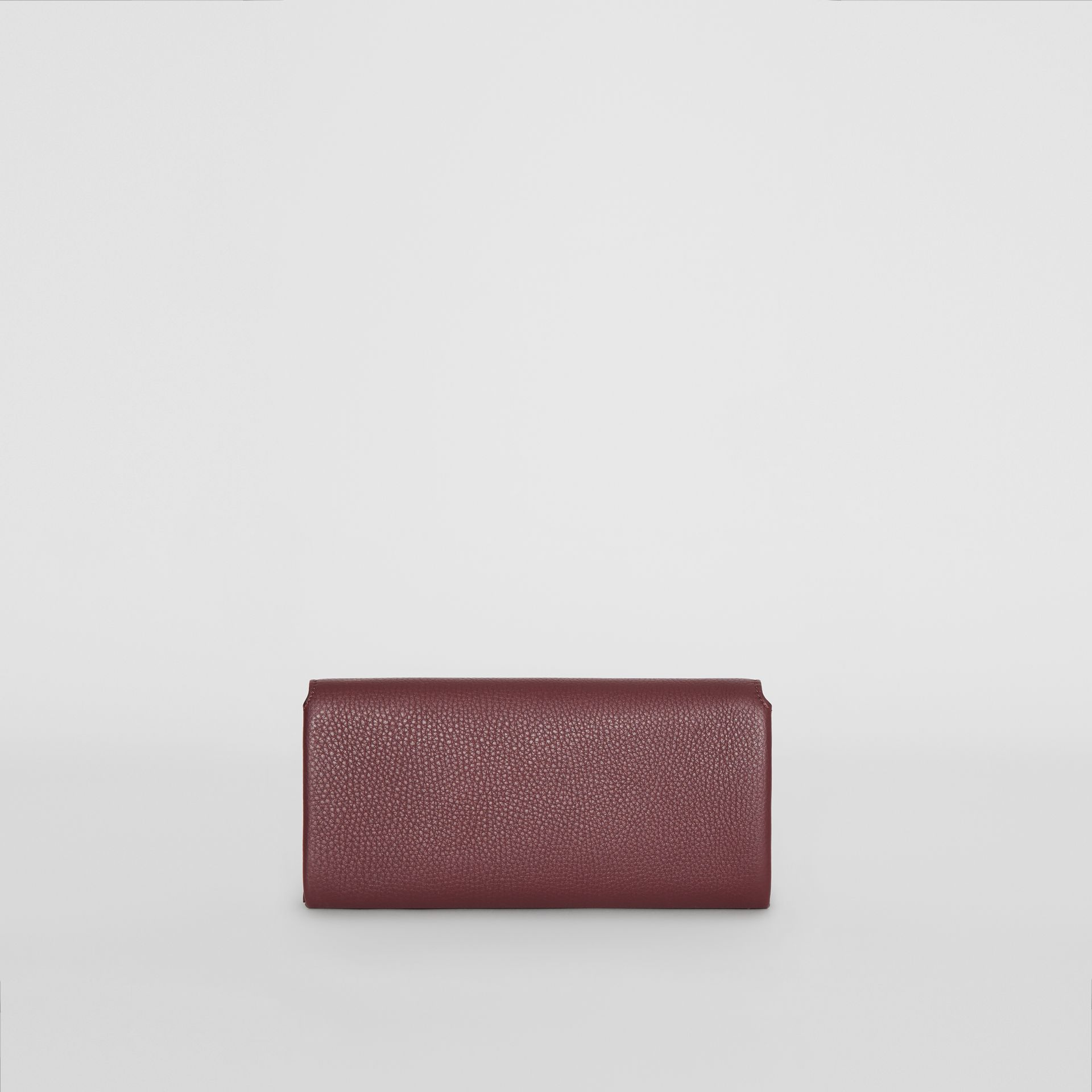 Two-tone Leather Continental Wallet in Deep Claret - Women | Burberry United Kingdom - gallery image 5