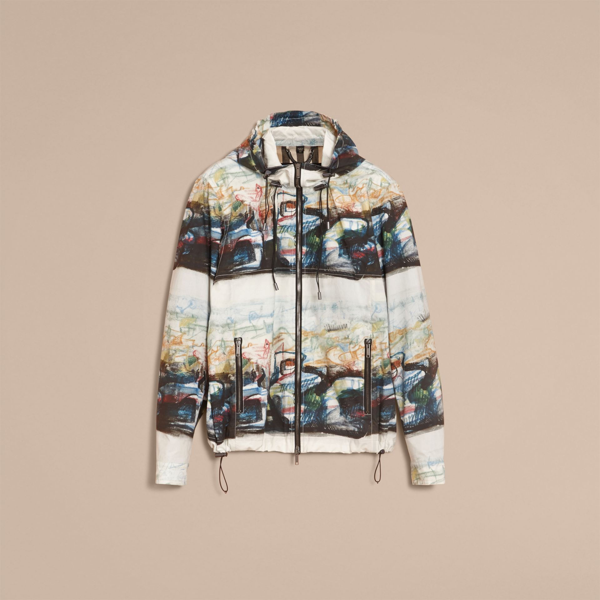 Reclining Figure: Bunched Print Hooded Jacket - gallery image 4