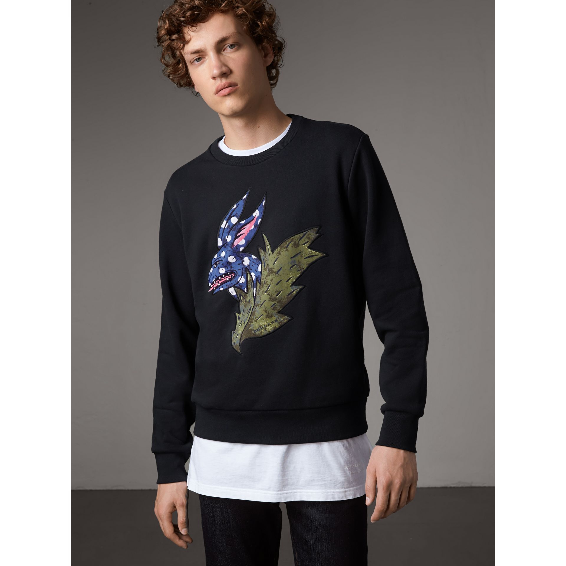 Beasts Motif Cotton Sweatshirt - Men | Burberry - gallery image 1