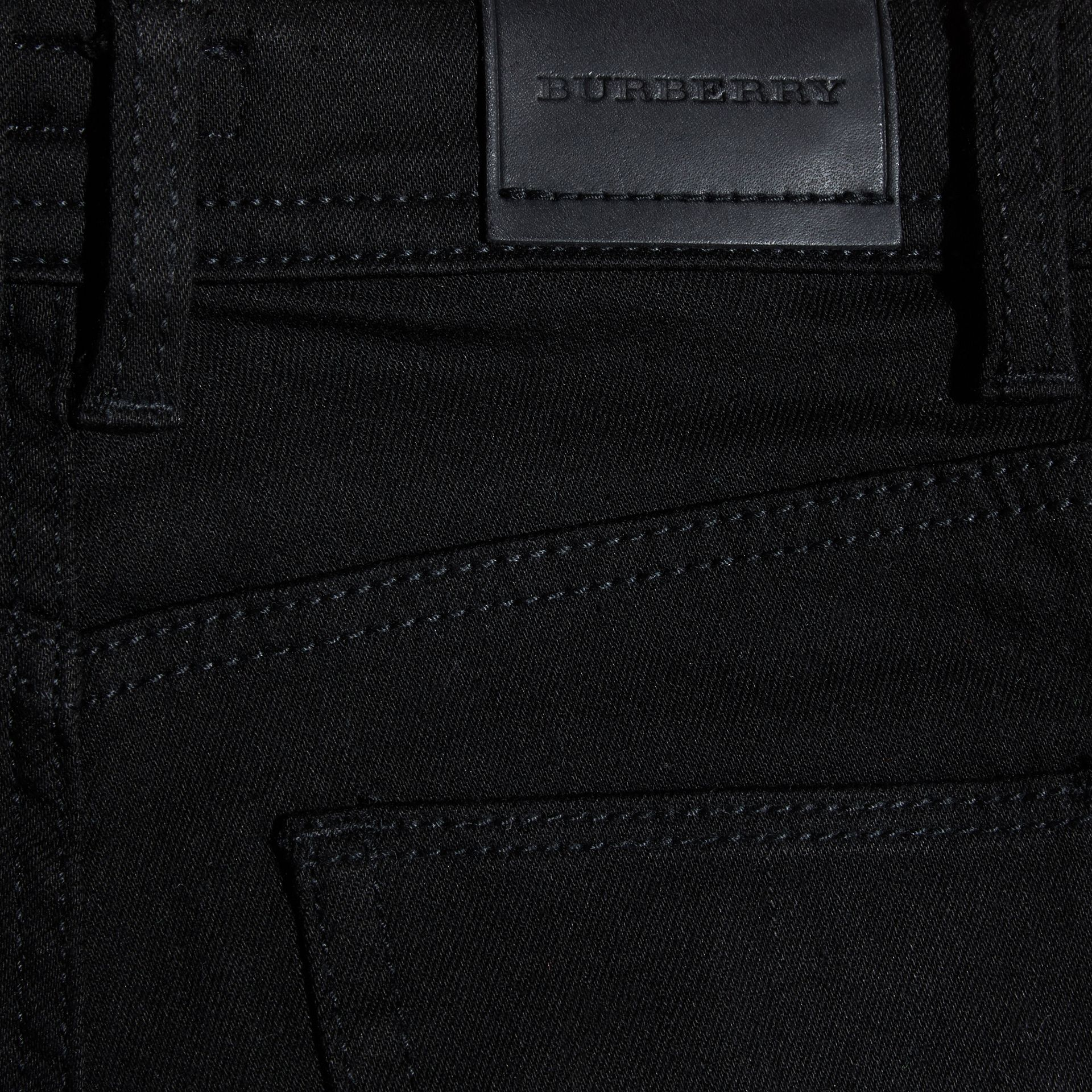 Skinny Fit Jeans in Black - Girl | Burberry Australia - gallery image 2