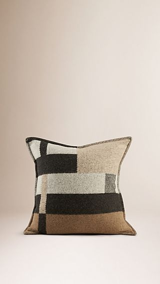 Check Wool Cashmere Cushion Cover