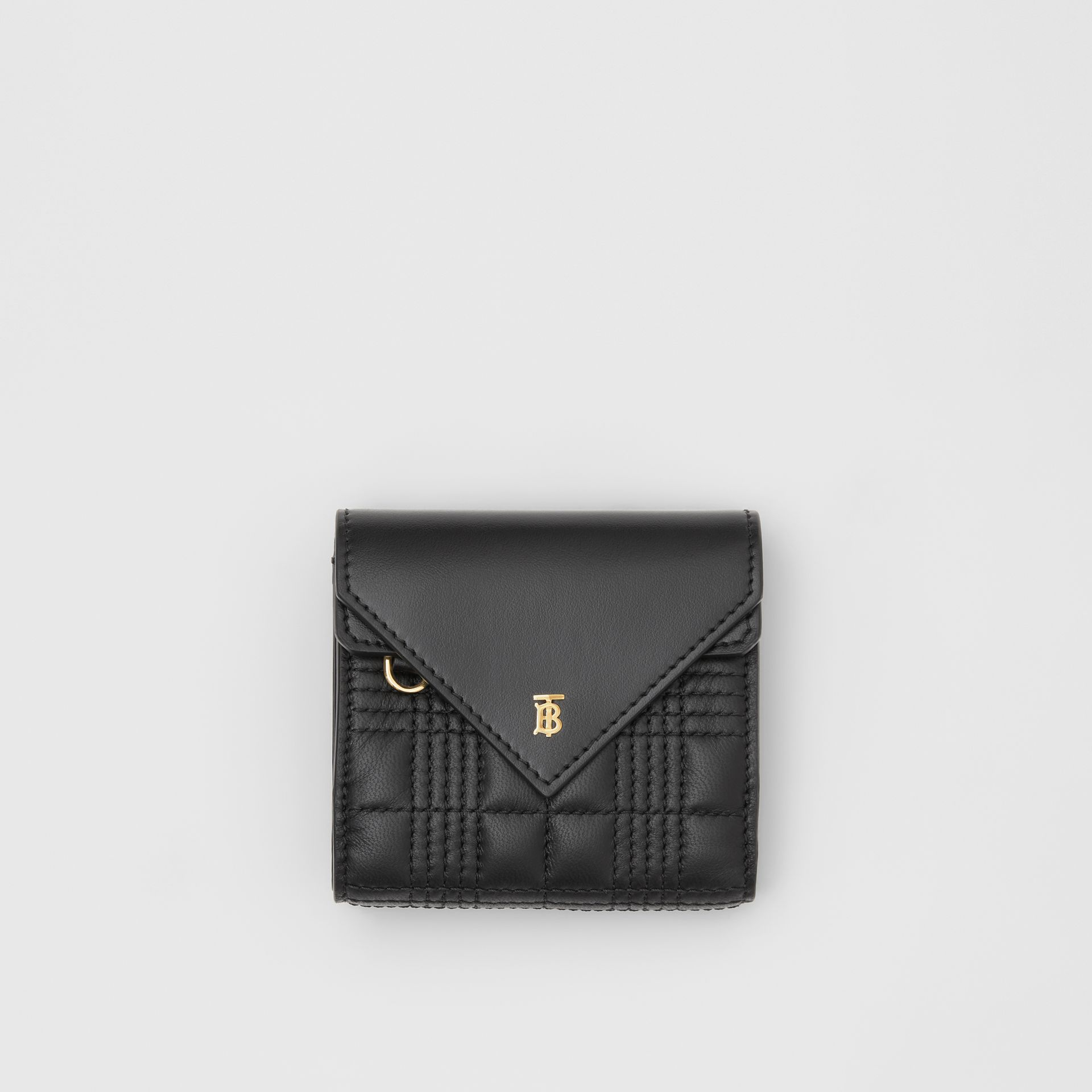 Quilted Lambskin Folding Wallet in Black - Women | Burberry Hong Kong S.A.R - gallery image 0