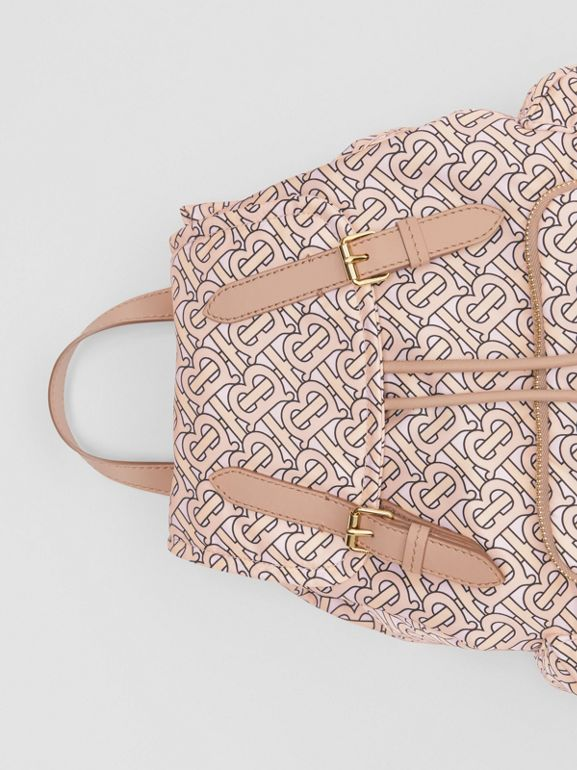 Sac The Rucksack moyen en nylon Monogram (Blush) - Femme | Burberry Canada - cell image 1